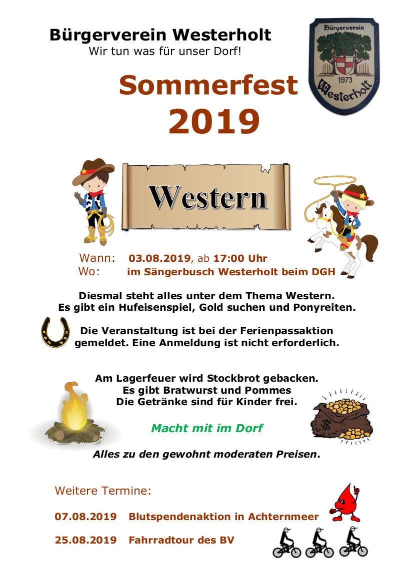 Einladung Sommerfest 2019
